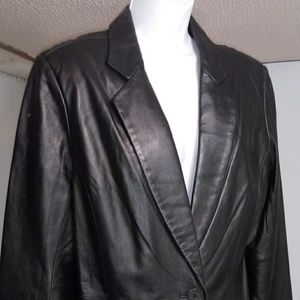 NWT Men's J.Ferrar, Leather Jacket Blazer XL